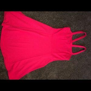Neon pink Garage dress